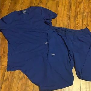 Cherokee large galaxy blue scrubs